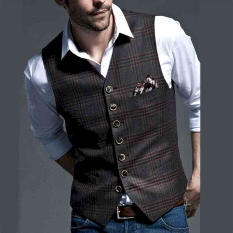 Men Suit, Casual, Sleeveless Waistcoat For Wedding, Party