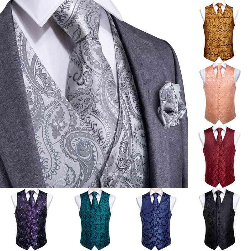Men's Slim Fit Formal Suit Jacket, Vest & Pants Set