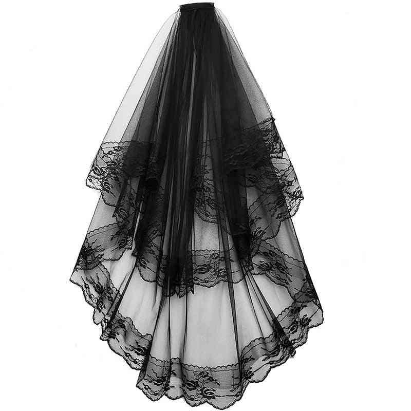 Two Layered, Elegant Vintage Style Wedding Veils