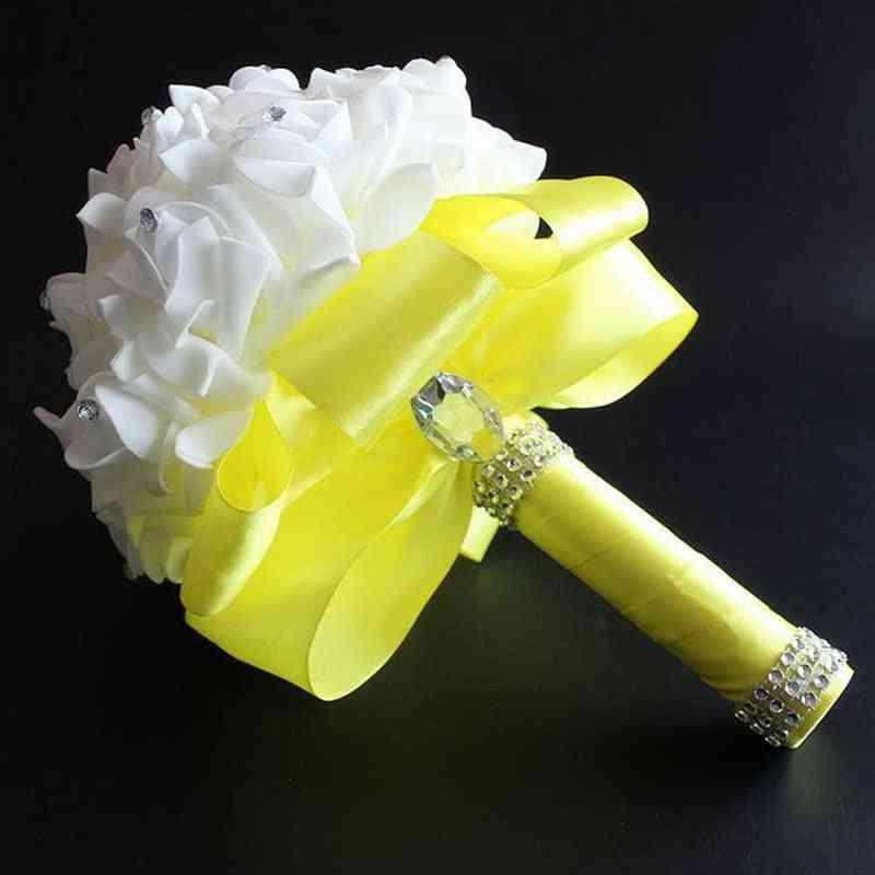 Elegant Bouquet Artificial Bridal Flowers
