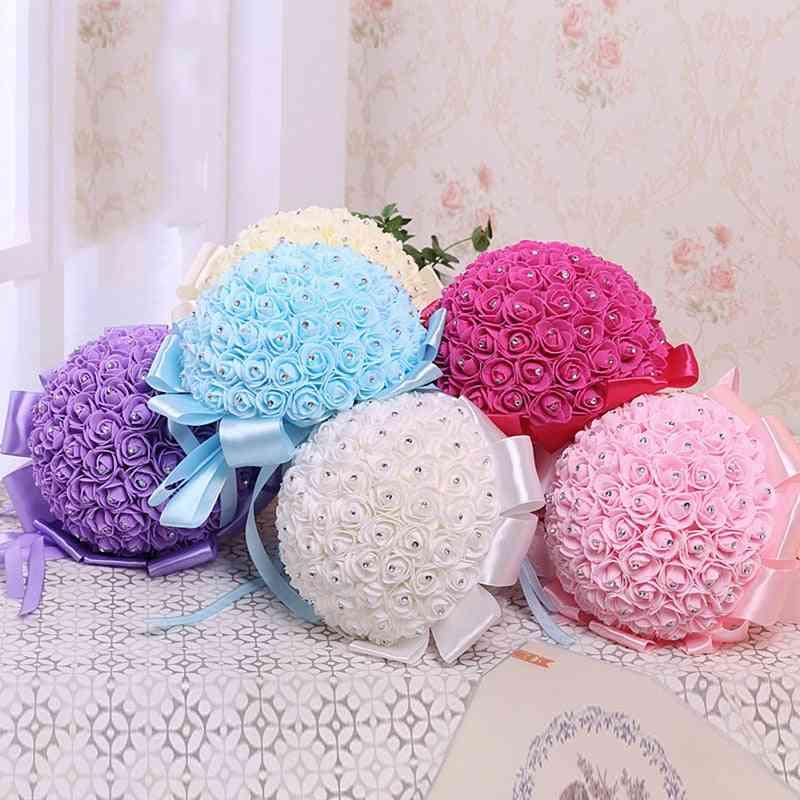 Foam Roses Artificial Flower, Bride Bouquet Party