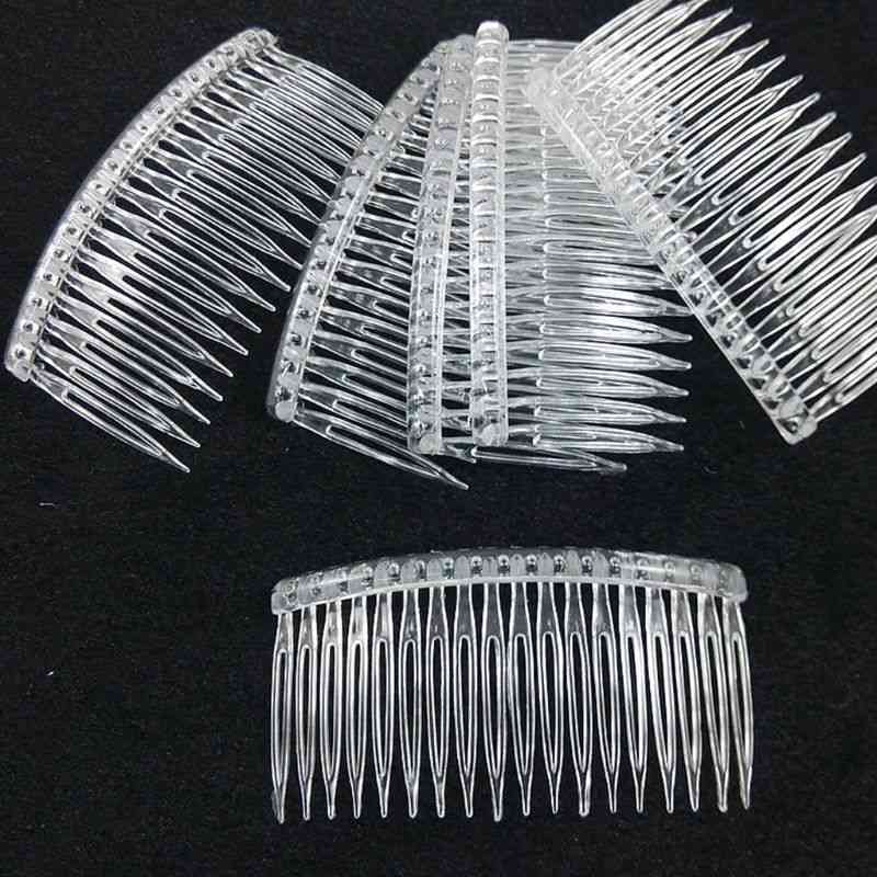 Bride Tiara Veil Plastic Comb
