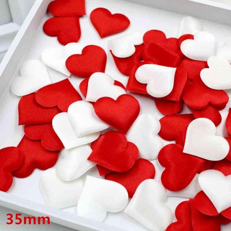 100pcs 3.5cm Love Heart Shaped Sponge Petals For Decoration