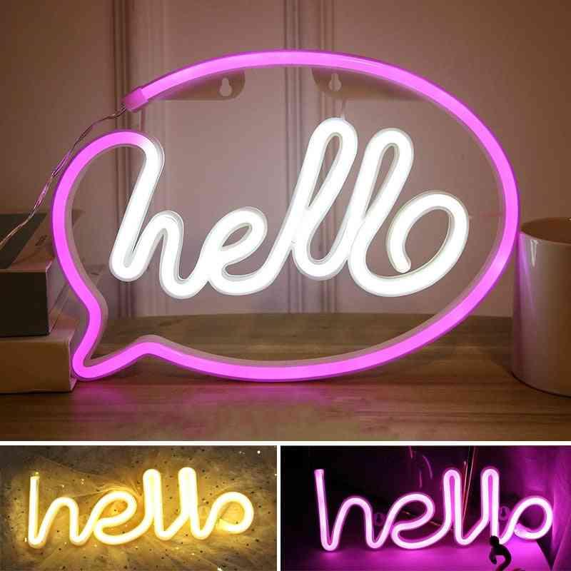 Hello Figure Led Neon Lights-signs Lamp