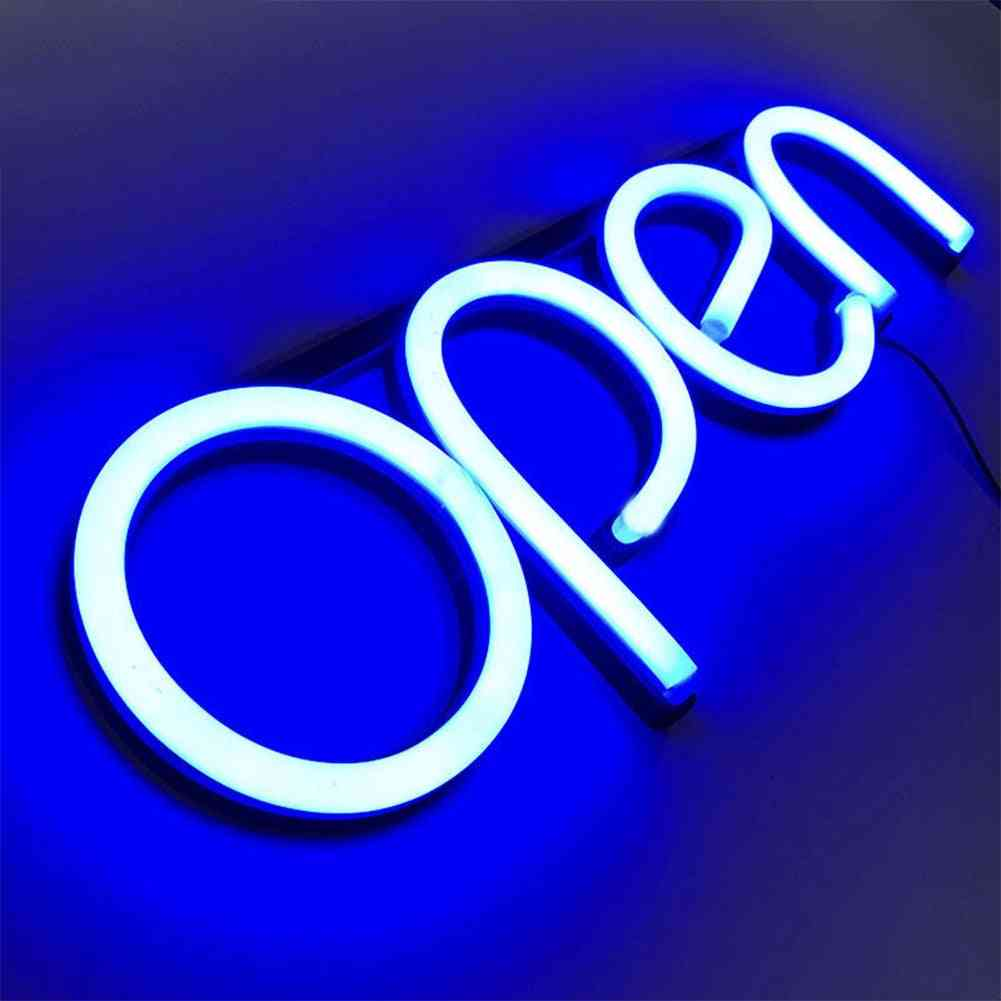 Ultra Bright Neon Multicolor Style Open Led Neon Light Sign Rgb Letter Window Displaying Light For Bar,restaurant,store,salon