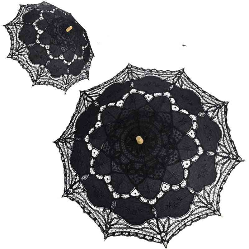 Bridal Lace Embroidered Umbrella For Wedding Decorayion