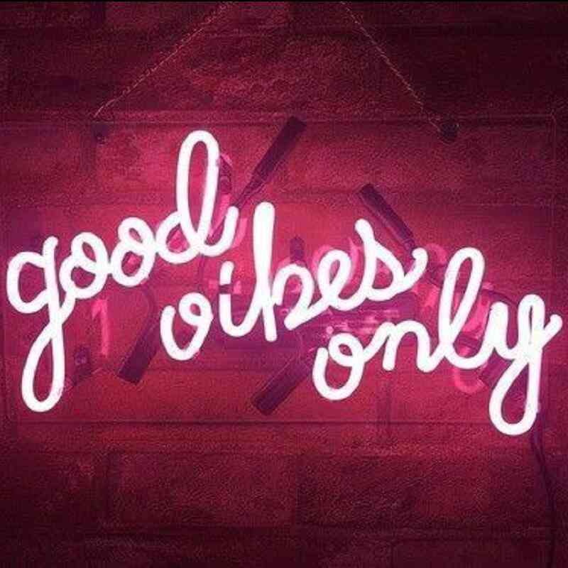 Good Vibes Only - Glass Neon Light Sign