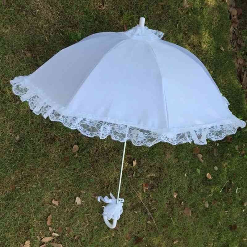 Wedding Bridal Parasol Umbrella, Hollow Lace For Photo Props Decorative