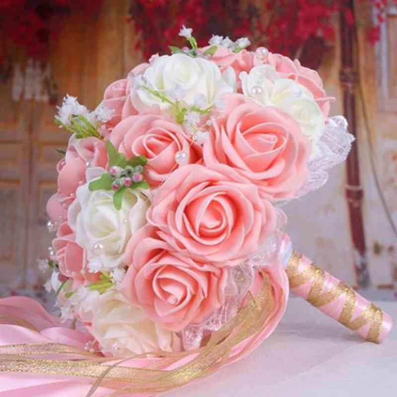 Handmade Artificial Flower Bouquet For Wedding Decoration