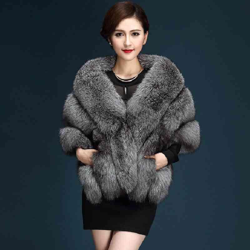 Faux Fur Outerwear Jackets- Winter Warm Wrap