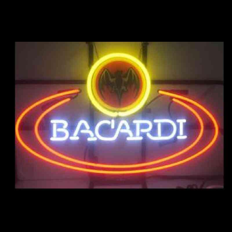 Bacardi - Glass Neon Light Sign Beer Bar