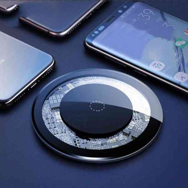 Fast Wireless Charger Pad With Led Light For Iphone