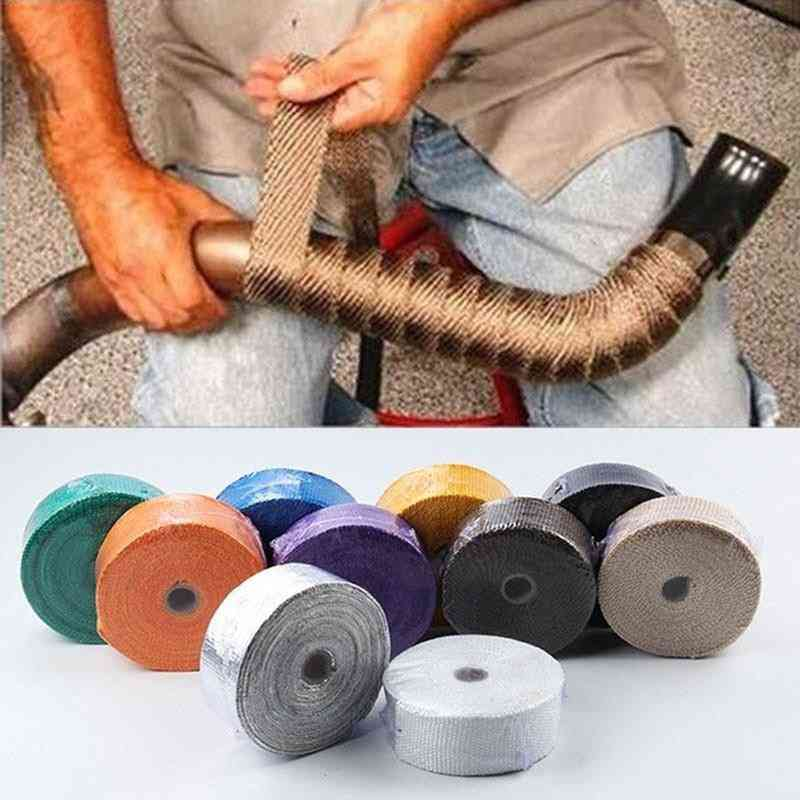 Motorcycle Exhaust Header Pipe Wrap Tape For Thermal Protection