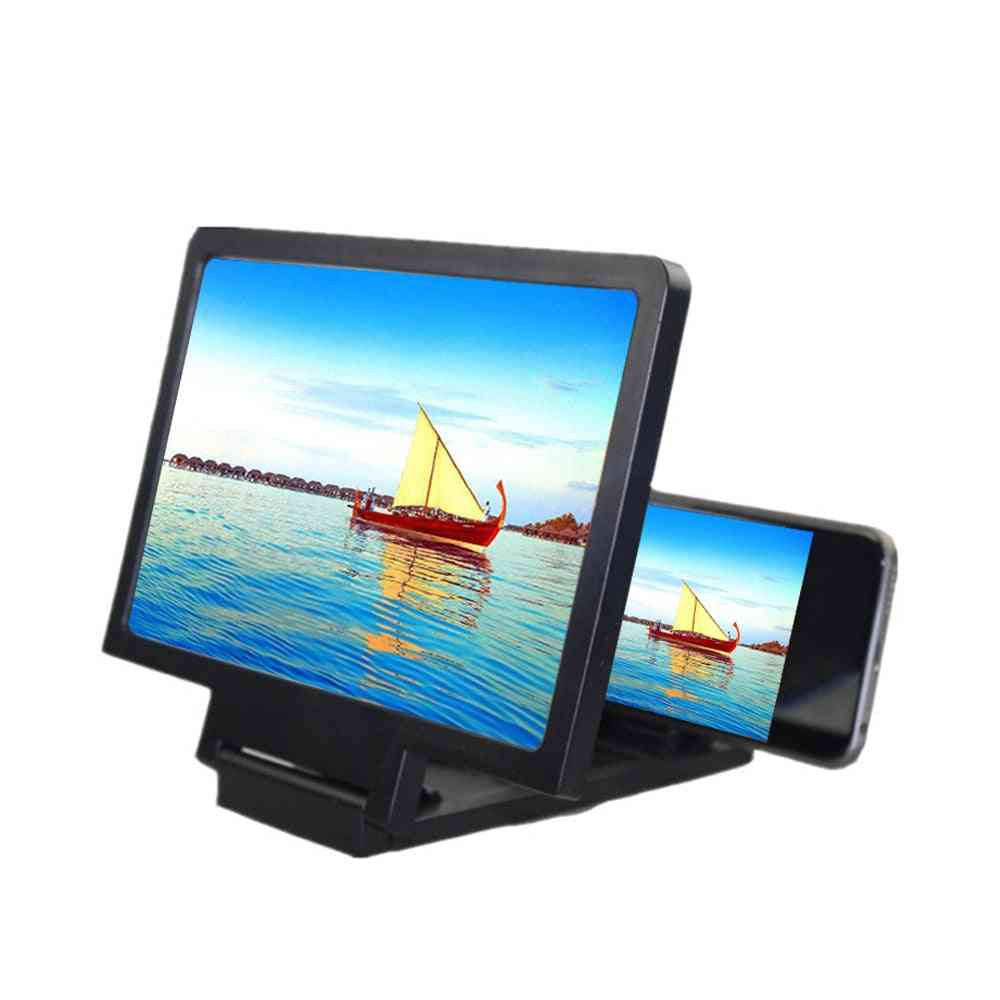 Mobile Phone Screen Magnifier, Bracket Enlarge, Stand Eyes Protection Folding 3d Video Display, Reduce Eye Fatigue