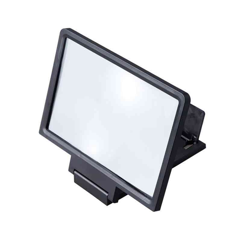 Screen Magnifier Cell Phone Hd Movie Video Amplifier With Foldable Holder Stand