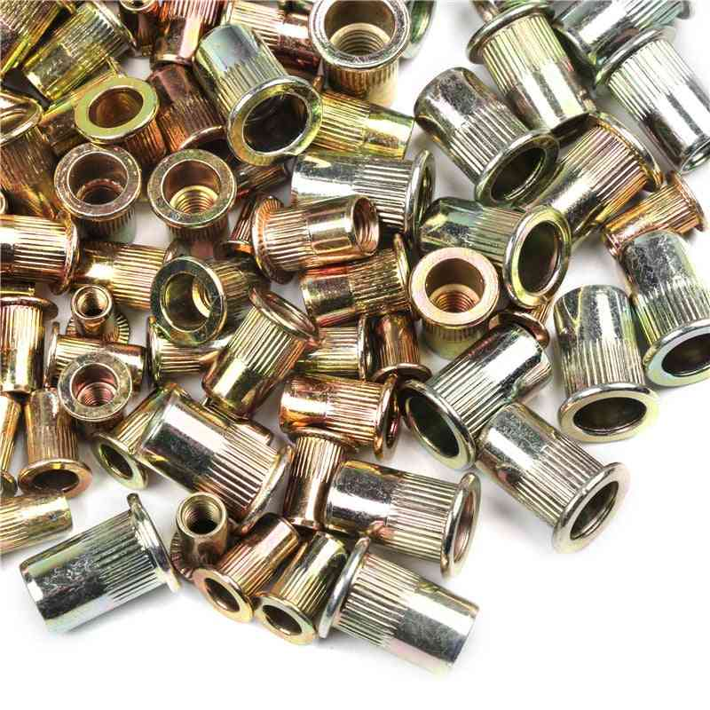 Mixed Zinc Plated, Carbon Steel, Rivet Nut Threaded