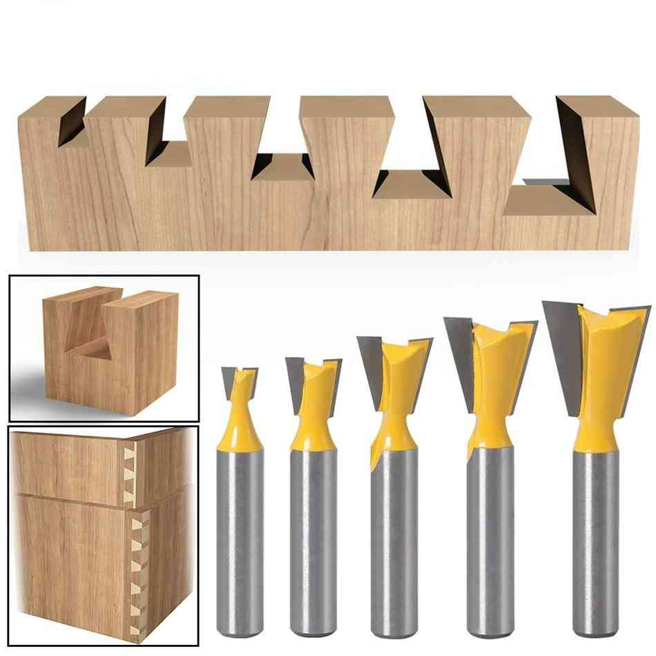 Shank Dovetail Joint Router Bits With 14-degree Woodworking Engraving Milling Cutter