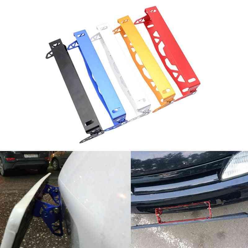Aluminum License Frame, Rotating Number Plate, Adjustable Tag Holder