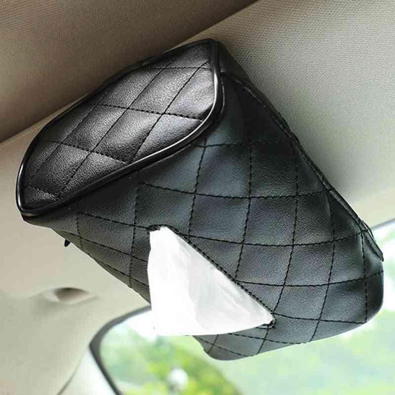 Disposable Napkins Tissue Boxes / Bag Organizer Car Decoration Auto Storage