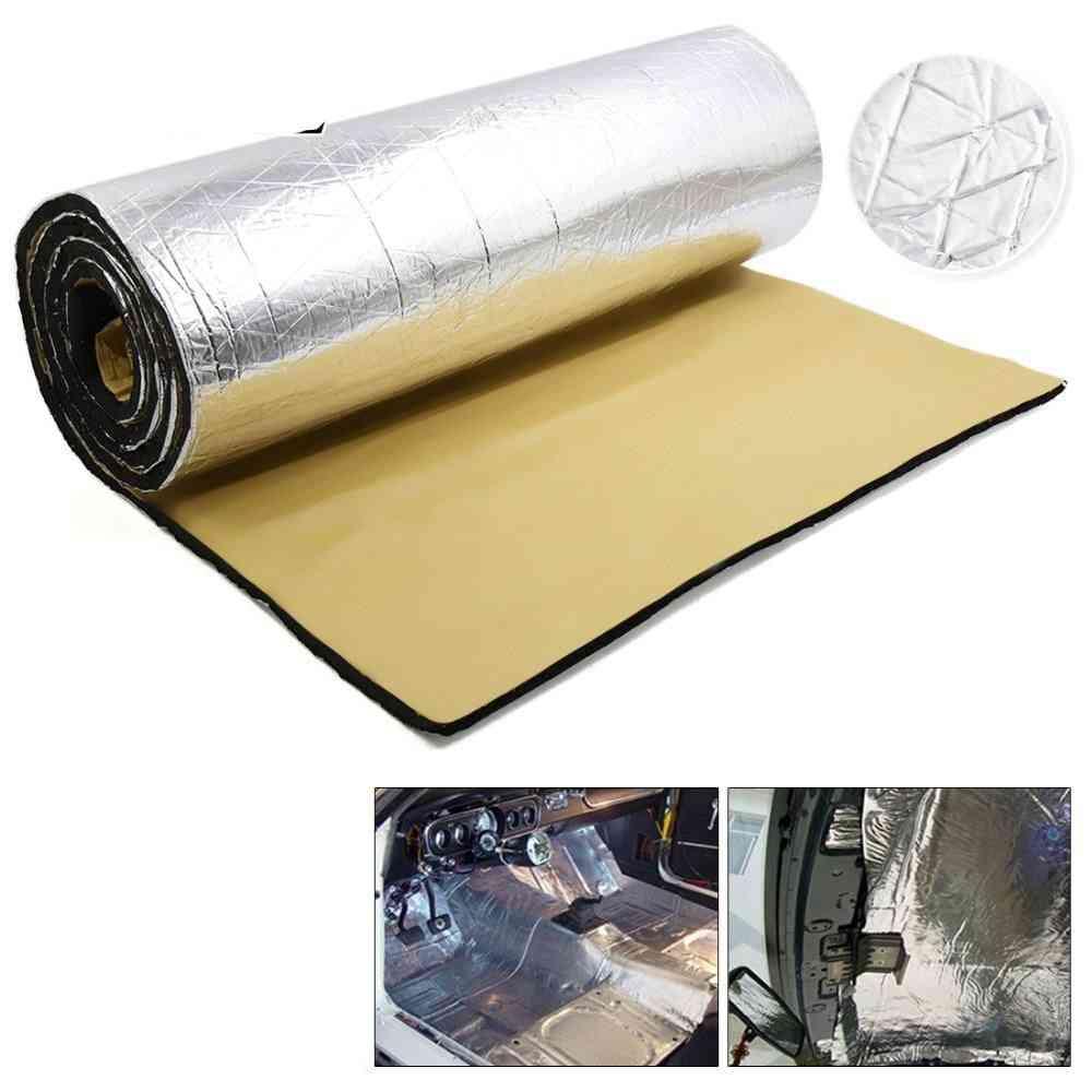 Thick Aluminum Fiber Muffler Cotton, Car Auto Fender Heat Sound Deadener Insulation Mat