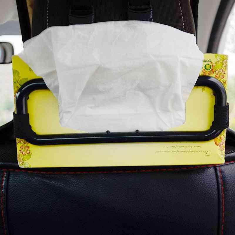 Car Sun Visor Tissue Box, Fixing Frame Car-chair Back Paper Towel Holder