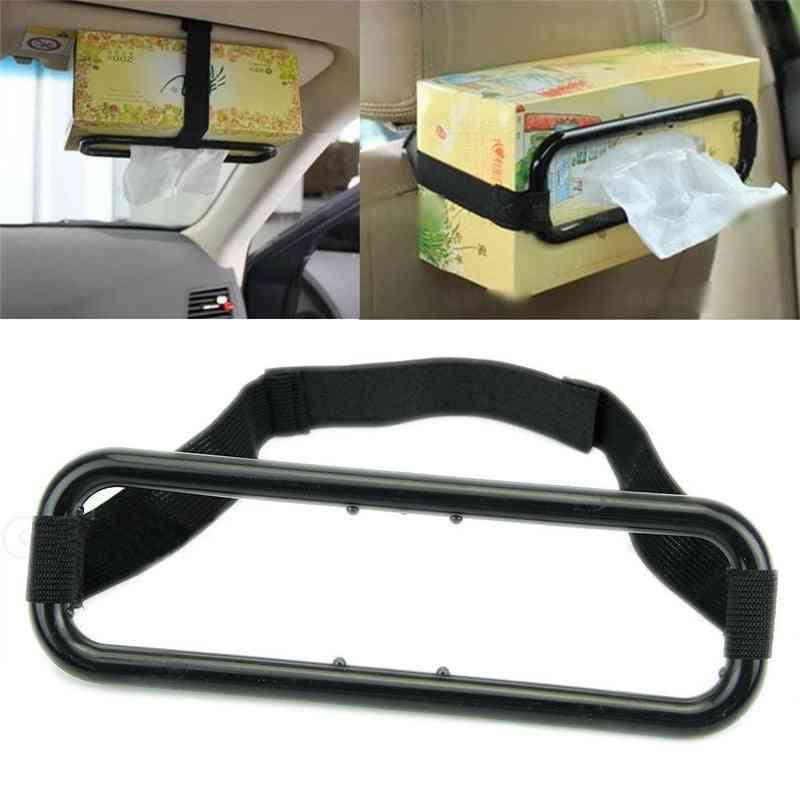 Car Sun Visor Tissue Box Holder Paper Napkin Seats Back Bracket