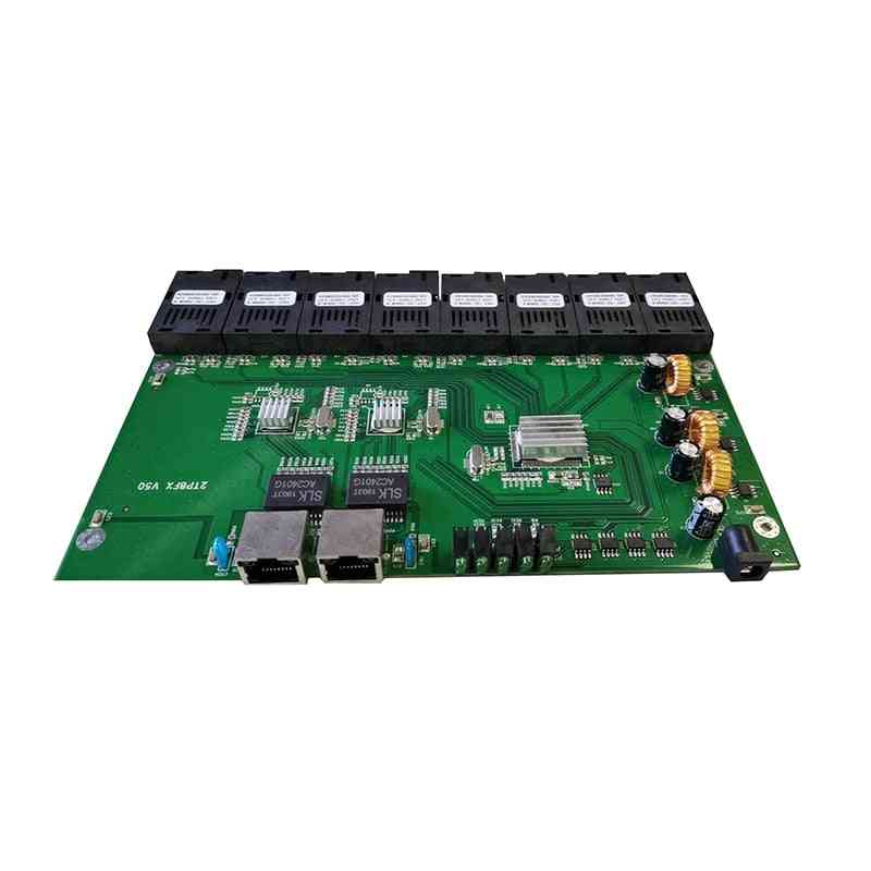 8-port Gbic Converter, Ethernet Fiber Optical Media Converters