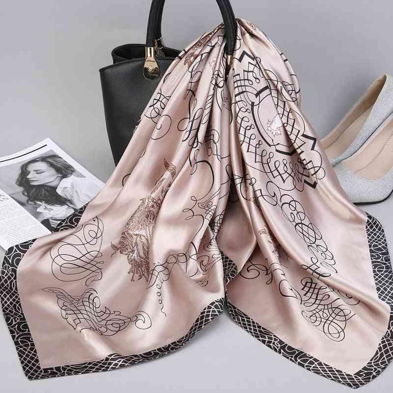 Fashion Kerchief Silk Satin Neck Scarf Hijab