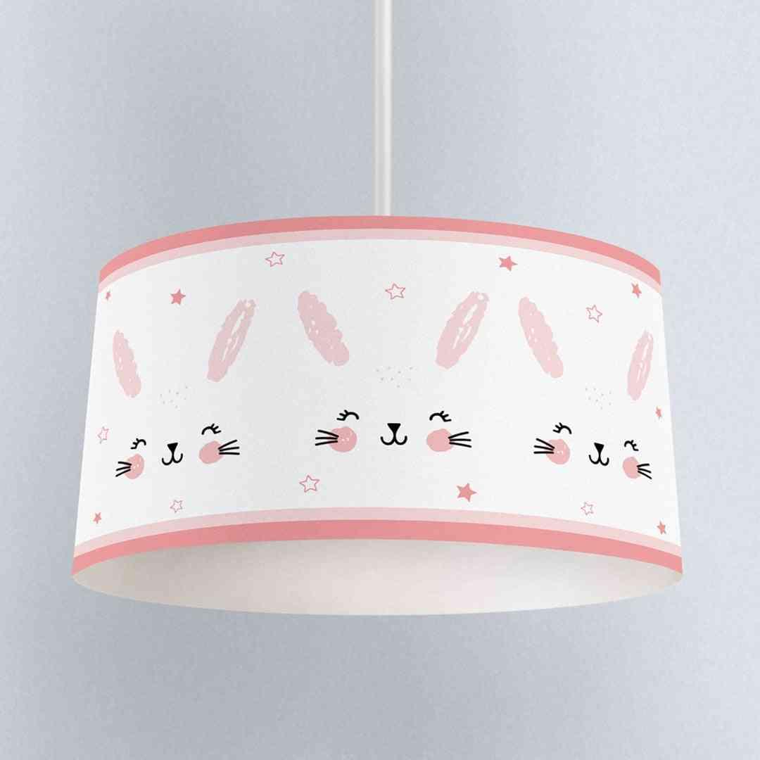 Children Bedroom Pendant Lamp, Chandelier Cute Rabbit Pattern Lampshade Chandelier