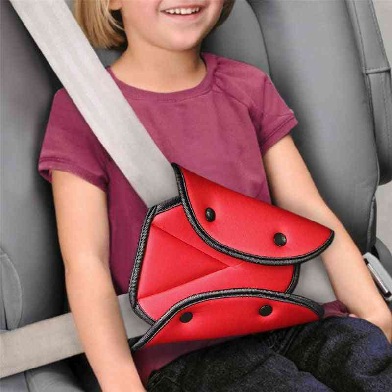 Car Safety Belt Cover Sturdy Adjustable Triangle Safe Seat Belts / Pad Clip