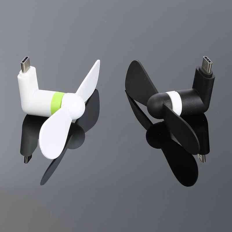 Usb Mini Type C Small Fan For Smart Phones