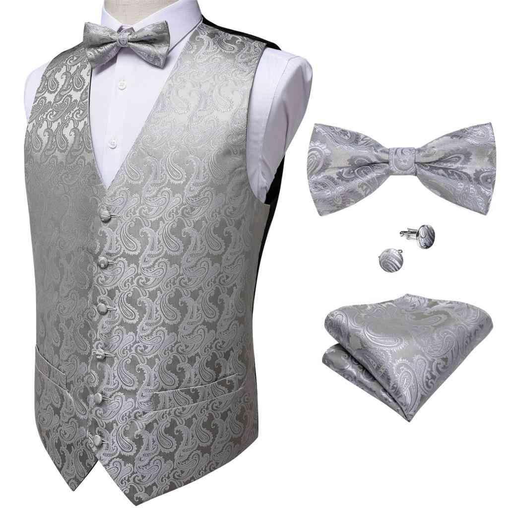Wedding/business Formal Men's Vest, Tie Cufflinks Set
