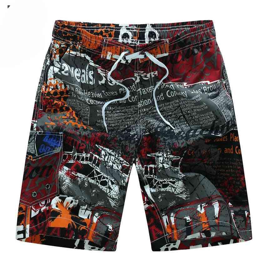 Summer- Casual Loose, Hawaii Printing, Beach Shorts