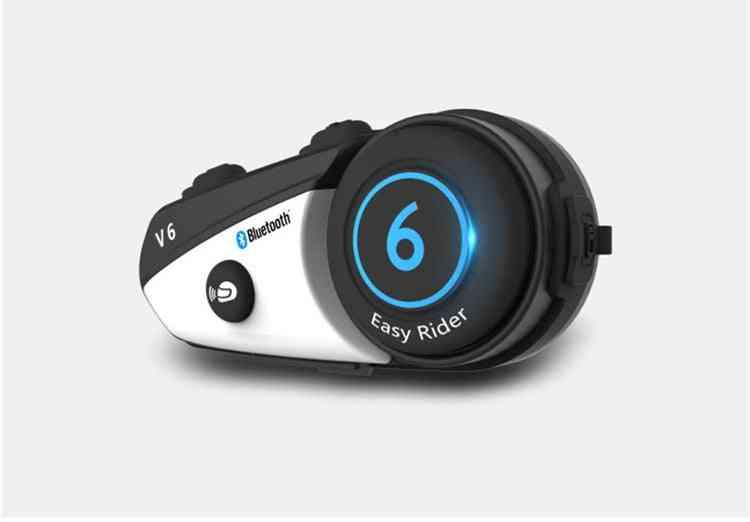 Vimoto V6 Bt Interphone Motorcycle Helmet Headset Intercom Simultaneously 2 Different Bluetooth