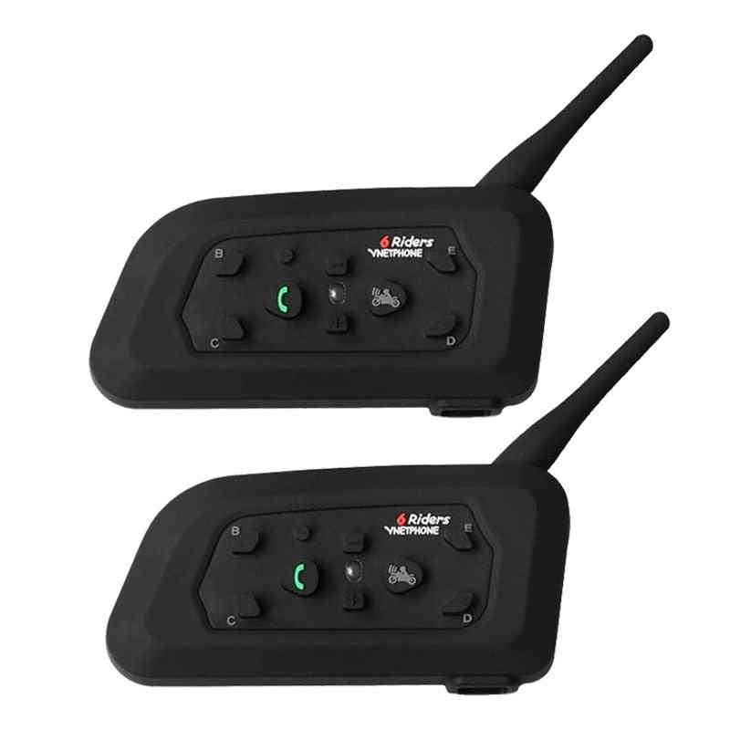 Motorcycle Bluetooth Helmet Intercom For 6 Riders Bt Wireless Waterproof Interphone Headsets Mp3