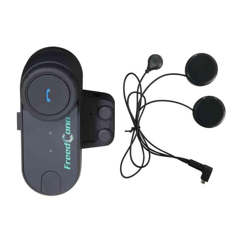 Fm Bluetooth Motorcycle Helmet Intercom, Interphone Headset +soft Microphone