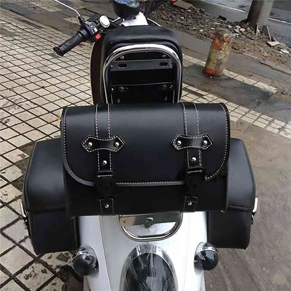 Side Pu Leather Luggage Saddle Bag, Storage Tool Pouch