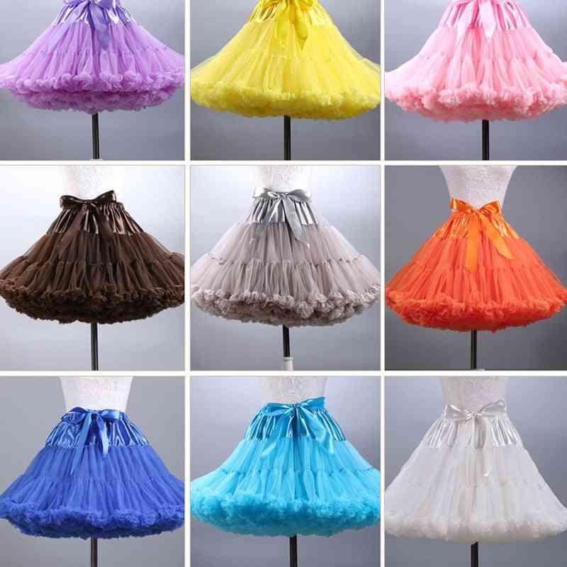 Women Petticoat Tulle Puffy Short Vintage Wedding Bridal Underskirt Rockabilly