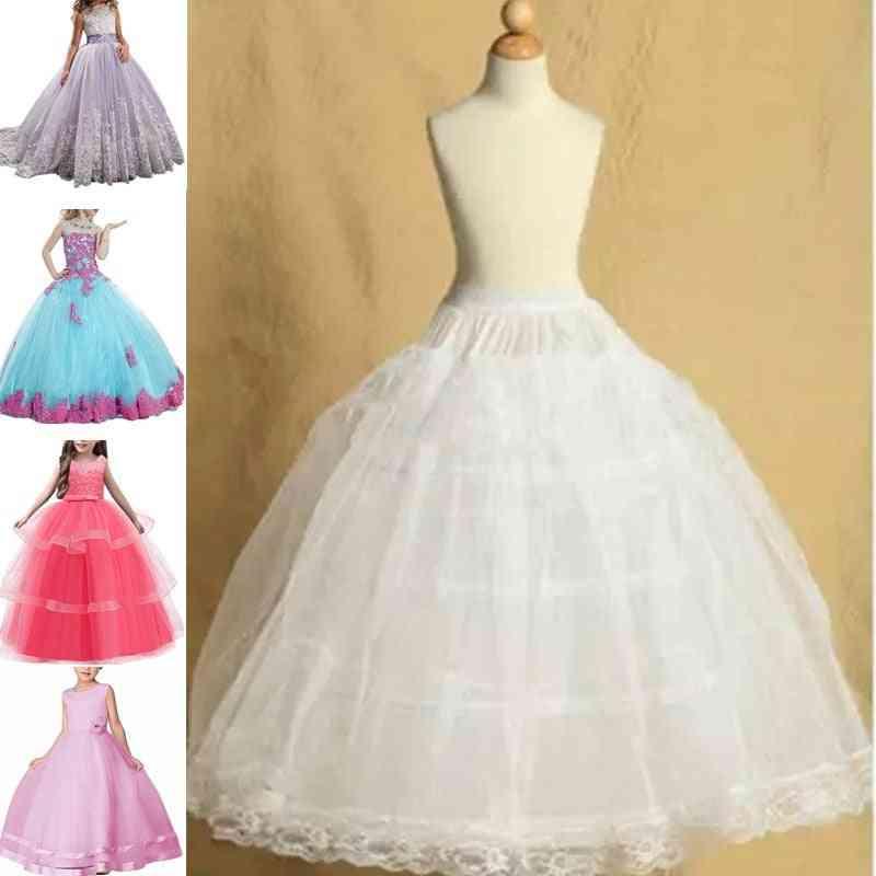 Petticoat For Crinoline Underskirt Flower Tulle Dance Dress Puffy Skirt