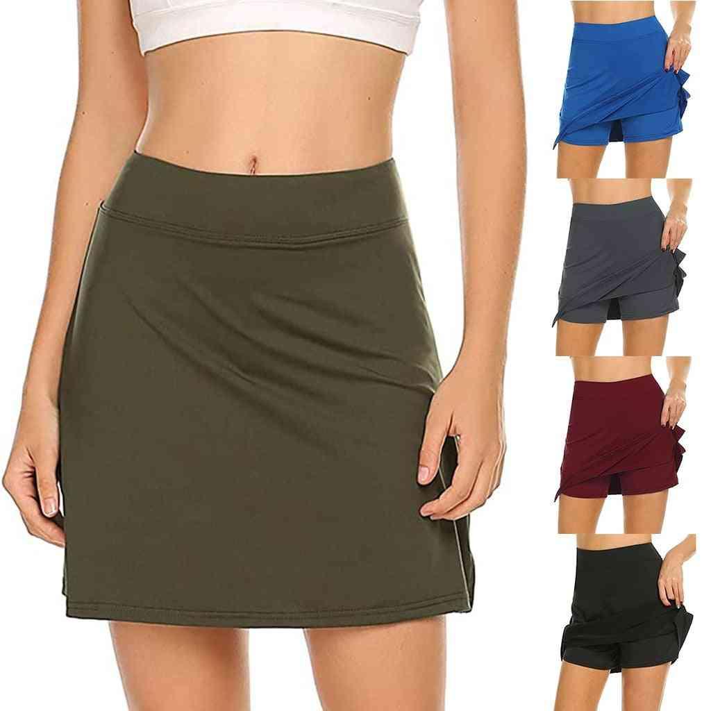 Women's Active Performance Skirts, Lightweight Running Tennis Sport High Waist