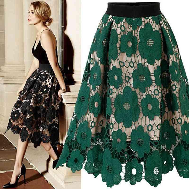 Summer Women's Bud Skirt, Lace Knee Length High Waist Slim Young Girl