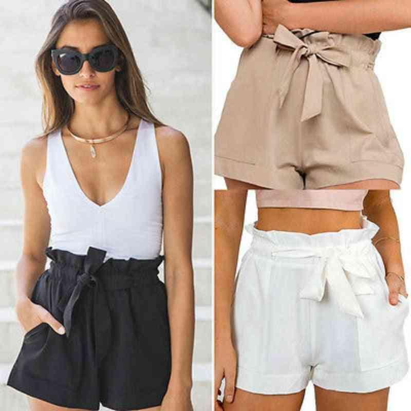 Summer- Casual High-waist, Beach Bow, Shorts