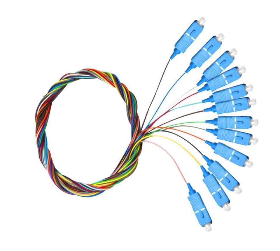 12 Colors- Sc Apc/upc, Pigtail-sm Fiber Optical, Patch Cord