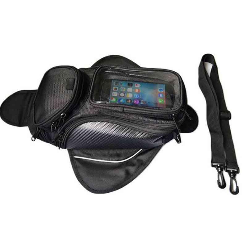Motorcycle Tank Bag Oil Fuel Magnetic Bag, Moto Saddle Luggage Gps Phone Bags