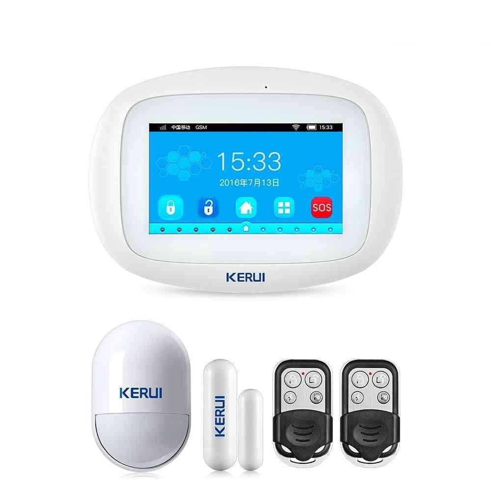 K52- Touch Screen, Wifi Gsm, Tft Display For Home Alarm System, Security Detector