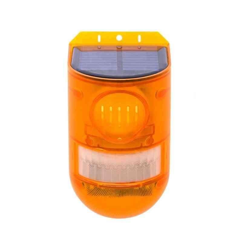Ip65 Solar Light, Wireless Sensor, Detector Siren Alarm For Outdoor Garden, Security Lamp