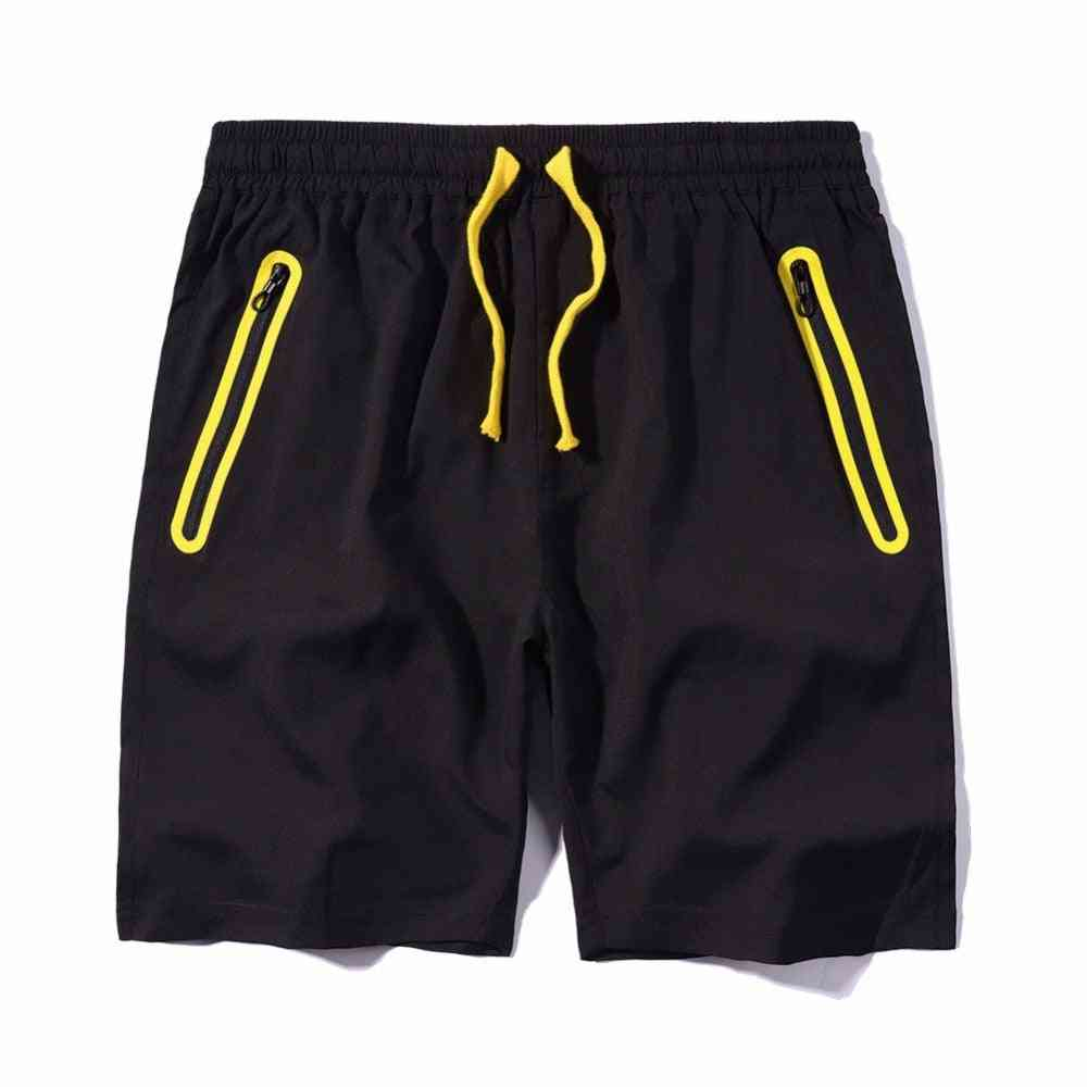 Slim Fit, Zipper Pocket Beach Shorts