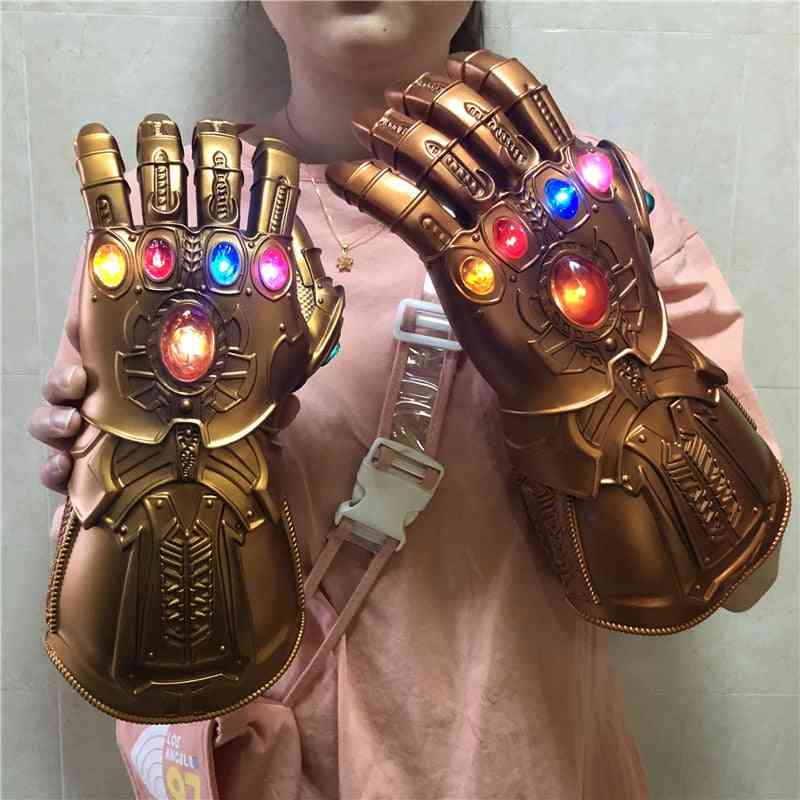 Gauntlet Action Figure Led Light Cosplay Thanos Gloves