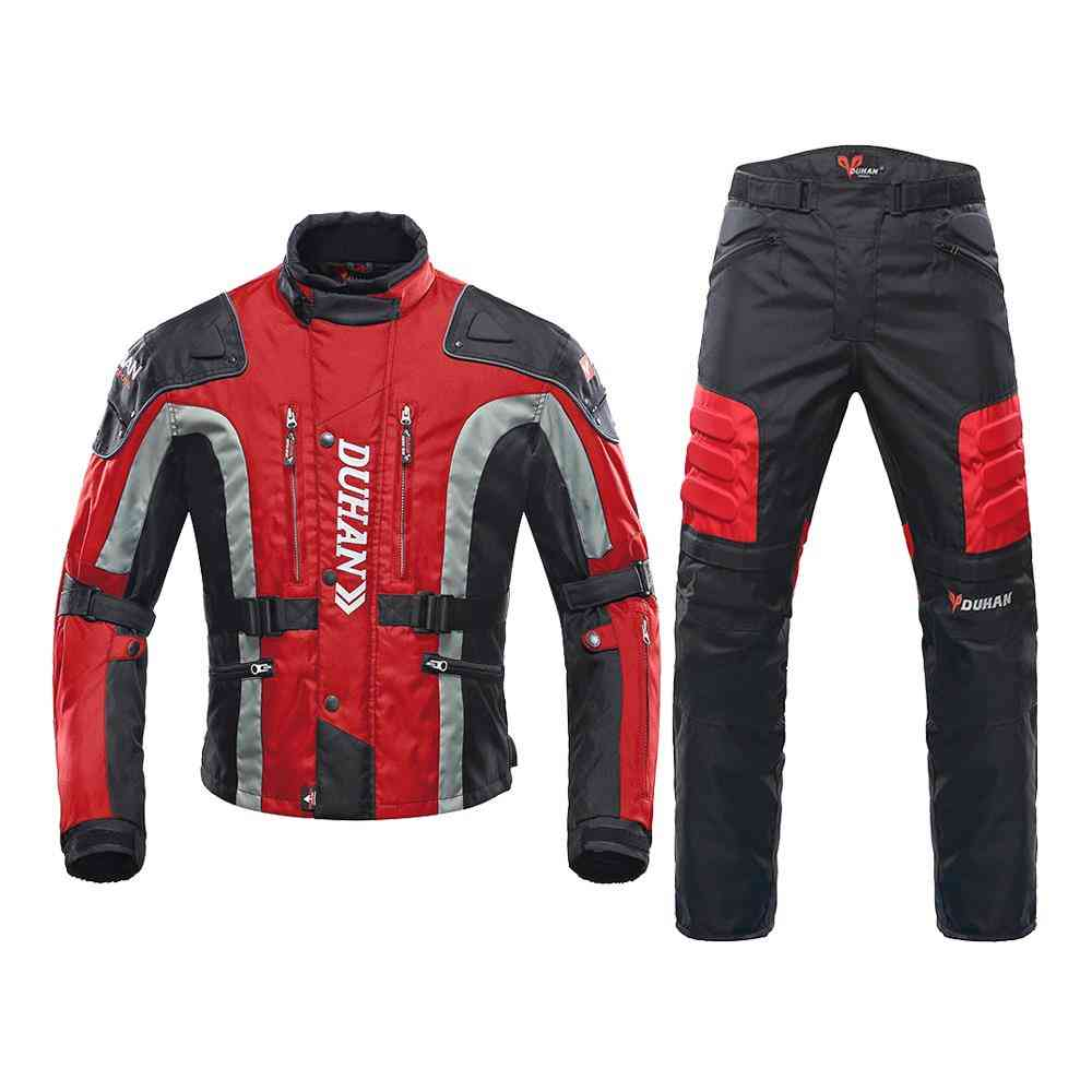 Abrasion Resistant And Windproof 600 Denier Polyester Fabric Motorcycle Jacket And Pants Suit