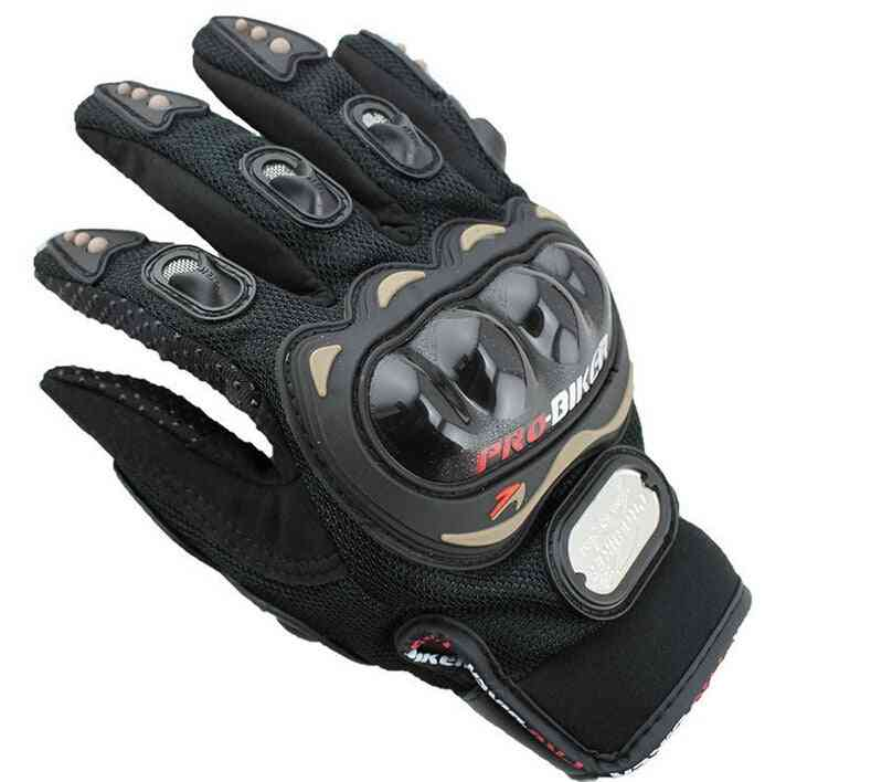Carbon Cycling Winter Moto Leather  Motorbike Gloves